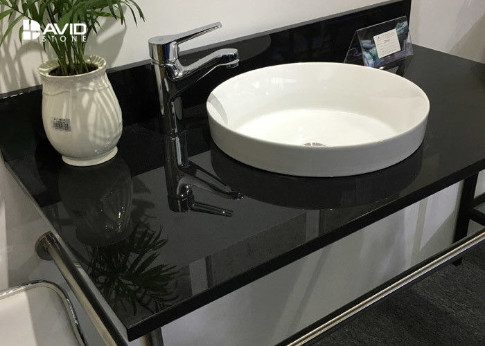 Nero Assoluto Polished Granite Vanity Countertops Bacteria Resistance Hard Surface