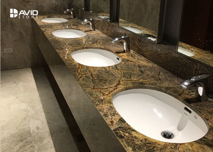 Durable Marble Bathroom Sink Tops , Marble Vanity Tops With Sink Heat Resistance